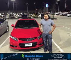 Happy Anniversary to Sergio on your #Honda #Civic Cpe from Scott Durkin at Honda Cars of Rockwall!  https://deliverymaxx.com/DealerReviews.aspx?DealerCode=VSDF  #Anniversary #HondaCarsofRockwall