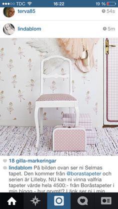 Wallpaper ballerina tapet boråstapeter barnrum barntapeter kidsroom