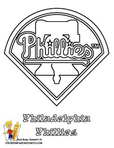 Phillies Baseball Coloring Pages