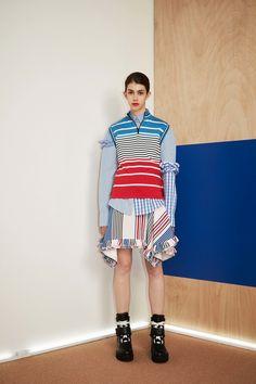 MSGM Resort 2017 Fashion Show Stripes, Asymmetric Hem, Ruffles
