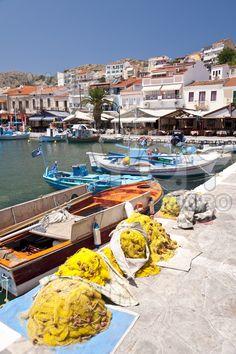 Fishing boats on Samos, Greece