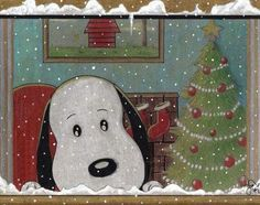 Snoopy at Christmas... http://www.deviantart.com/art/snoopy-is-waiting-for-chrismas-495878873