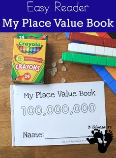 Free My Place Value Book - from ones to 100 million 10 page book…
