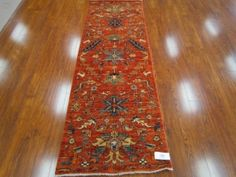Afghan-Persian.  A #handmade #vegetable dyed red borderless #runner made using vegetable dyes from #Afghanistan. 2.8 x 7 feet  #persian #rugs