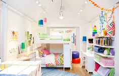 It may actually be a @The Land of Nod store but loving all those pops of color and pattern! Great interview with their managing director too.