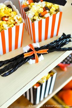 CUTE halloween gift / treat idea! Via Kara's Party Ideas KarasPartyIdeas.com #halloween #halloweenparty #halloweenpartyfavors #halloweengifts