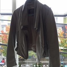 Blanc Noir grey jacket Great jacket, worn twice, not my favorite style personally but super cute for layering this fall Nordstrom Jackets & Coats