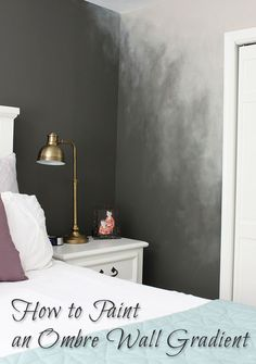 Gradient transition for painting different colors in a room... How to Paint an Ombré Wall Technique - Pretty Handy Girl