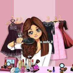 Friend Cartoon, Girl Cartoon, Sarra Art, Best Friend Drawings, Girly M, Cute Couple Wallpaper, Pop Art Girl, Cute Friend Pictures, Girly Drawings