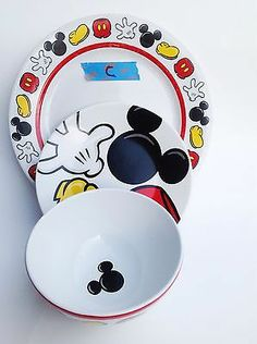 Mickey and Minnie Mouse Holiday Kids Plates | Disney christmas Mice and Disney kitchen & Mickey and Minnie Mouse Holiday Kids Plates | Disney christmas Mice ...