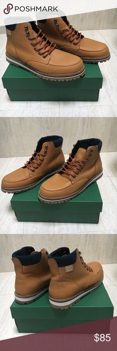 Men's Lacoste Montard Boot Authentic Lacoste Mens Montard boot. Only worn twice. Great condition, tan in color Lacoste Shoes Boots