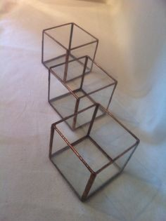 wedding decoration glass cube candle holder by AugustGlassDesigns