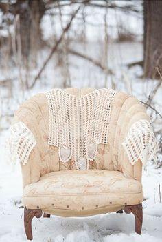 Winter Wedding Chair!