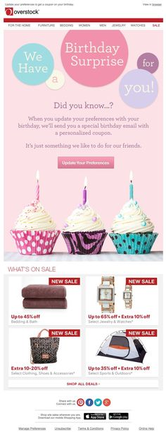 31 Best Birthday Emails Images On Pinterest Birthday Email Email
