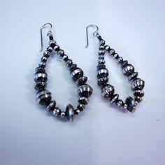 Utopia - Round oxidized bead (Navajo pearl) sterling silver earrings, $83.00 (http://store-tdcr9ru.mybigcommerce.com/round-oxidized-bead-navajo-pearl-sterling-silver-earrings/)
