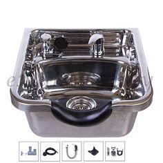 Stainless Steel Shampoo Bowl Shampoo Sink Barber Beauty Salon Polished >>> For more information, visit image link.