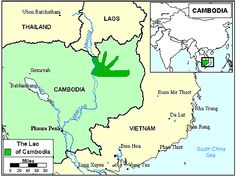 Pray / Lao, Laotian Tai of Cambodia map