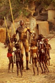 The Nuba of Kau, Sudan. Photo by Leni Riefenstahl, 1970's.