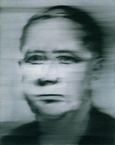 Gerhard Richter: Portrait Klinker 1965 100 cm x 80 cm Oil on canvas Artistic Photography, Film Photography, Gerhard Richter Painting, Black And White Painting, European Paintings, Abstract Portrait, Human Condition, Elements Of Art, Portraits