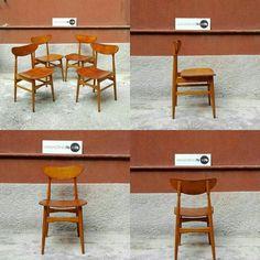Set di 4 sedie in teak, stile scandinavo, restaurate. Ottime condizioni Costo 300 #magazzino76 #viapadova #Milano #modernariato #vintage #design #teak #industrialdesign #industrial #industriale #furnituredesign #furniture #mobili #modernfurniture #antik #antiquariato  #armchair #chair #sedie