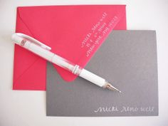 Want stationery in similar colors. Image of Personalized Calligraphy Name Stamp