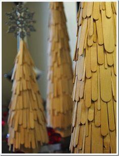 Manualidades con Palitos de Polo para Navidad