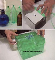 Şişelerden hediye kutusu
