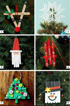 15 Easy Kids Christmas Crafts Keeping kids busy when it's cold outside is a task on its own! These 10 easy kids Christmas Crafts double as great gift as well as decor and keep them busy! Noel Christmas, Diy Christmas Ornaments, Christmas Gifts, Christmas Ideas, Ornaments Ideas, Handmade Christmas, Christmas Decorations For Kids, Christmas Crafts For Kids To Make At School, Simple Christmas Crafts