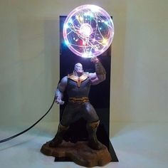 Decorative Lights are Very Amazing for Anime Lovers | HouseMyPedia Anime Figures, Action Figures, Action Toys, Marvel Lights, Thanos Infinity Gauntlet, Toy Display, Led Diy, Led Night Light, Light Led