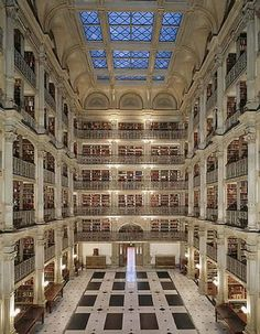 George Peabody Library, Baltimore, Maryland, USA BEAUTIFUL!