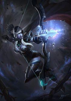 DOTA2-Drow Ranger, ji zhang on ArtStation at https://www.artstation.com/artwork/8kk8O