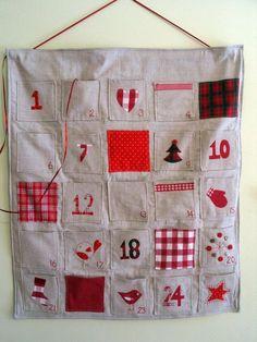 Handmade advent calendar - also a list of non-candy treat ideas