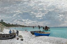 The Beach at Saint-Adresse Art Print by Claude Monet | iCanvas