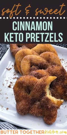 Keto Cinnamon Pretzels (Fat Head Dough) - Butter Together Kitchen - Butter Together Kitchen Dessert Recipes - These soft and chewy cinnamon pretzels are the perfect sweet treat and go nicely with a cream cheese - Low Carb Desserts, Low Carb Recipes, Diet Recipes, Sausage Recipes, Chili Recipes, Recipes Dinner, Smoothie Recipes, Yummy Recipes, Cake Recipes