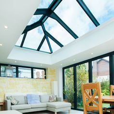 4 Optimistic Clever Ideas: Modern Shed Roofing concrete roofing slab.Shed Roofing Bungalow special roofing architecture.Roofing Colors How To Choose. Flat Roof Systems, Roofing Systems, Glass Roof Extension, Rear Extension, Extension Ideas, Orangerie Extension, Flat Roof Skylights, Skylight Glass, Roof Lantern
