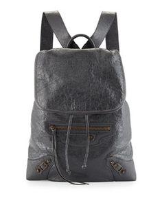 Balenciaga Classic Lambskin Traveler Backpack