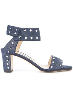 02749ba4ef1b Jimmy Choo Veto 65 Denim Sandals - Farfetch