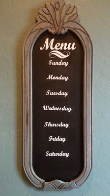 Menu board make it magnetic and change it every week