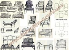 Fabulous furniture style reference pages on this site.  Louis XVI Furniture