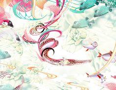 Bozka Rydlewska, Aquamarin, new botany series, 42 x 54cm, mixed media, digigraphie on epson velvet fine art paper, 10 signed prints