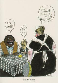 Postkarte Oktoberfest Auf der Wiesn
