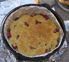 camp activities Hello fellow Scouters, One of my favorite camping activities is dutch oven cooking. We converted one of my favorite desserts to make in a dutch oven. Its a fruit cobbler dump cake that is easy to. Dutch Oven Desserts, Dutch Oven Recipes, German Recipes, Fire Cooking, Oven Cooking, Skillet Cooking, Outdoor Cooking, Cooking Pasta, Fruit Cobbler