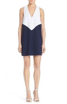 Alice + Olivia 'Maya' ColorblockTrapeze Dress available at #Nordstrom