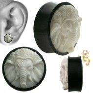 Wholesale Body Jewelry White Elephant Design Body Jewelry PSWB-ELP Product Code: PSWB-ELP Wholesale Body Jewelry, Elephant Design, White Elephant, Plugs, Bookends, Corks