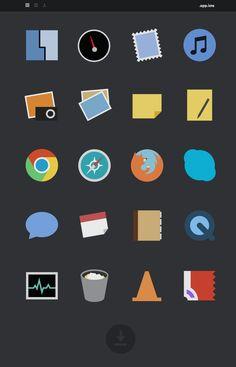Minimal icons / flat design #icon #flat #design