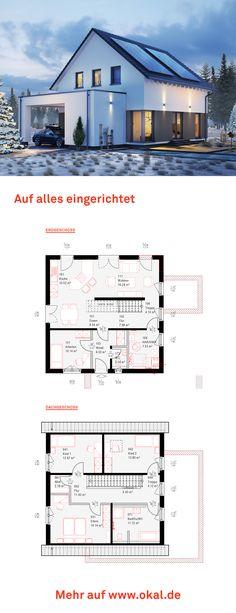 bungalow haus im landhausstil mit satteldach und carport grundriss fertighaus solution 78 v5. Black Bedroom Furniture Sets. Home Design Ideas