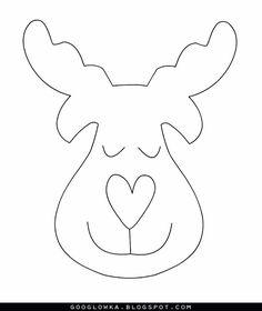 ARTE COM QUIANE - Paps,Moldes,E.V.A,Feltro,Costuras,Fofuchas 3D: Molde Rena nariz de coração