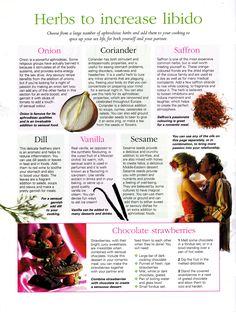 Herbs to increase libido