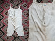 Vintage Antique Early 1900's 20's 30's Wool Underwear/ Slip / Undergarment / Nighty Unisex by Springtex by thiefislandvintage on Etsy