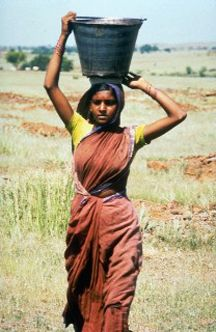 woman carrying water India Culture, Indian People, Indian Art Paintings, Draw On Photos, People Photography, Woman Painting, India Beauty, African Women, Lion Birthday